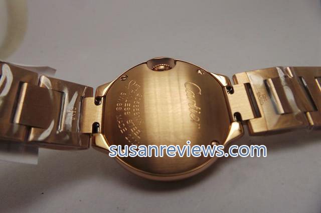 Cartier Ballon Bleu Rose Gold Case Back