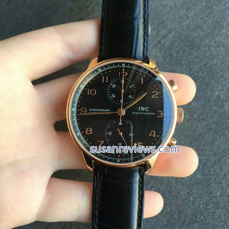 Replica Portuguese Chronograph Black Dial