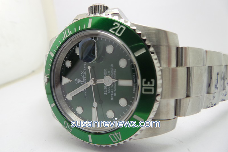 Replica Rolex Submariner 116610LV Green Bezel