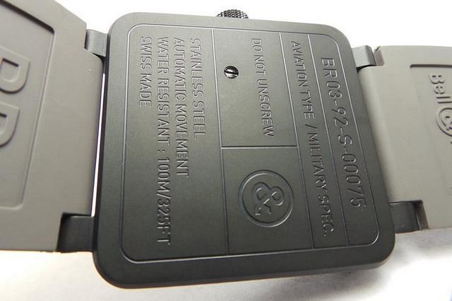 Bell Ross BR03-92 Caseback