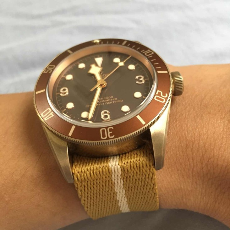 Tudor Bronze Wrist Shot