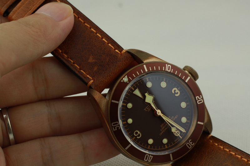 Tudor Brown Leather Strap