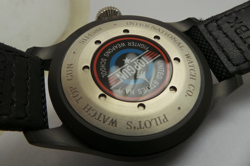 IWC Top Gun Case Back