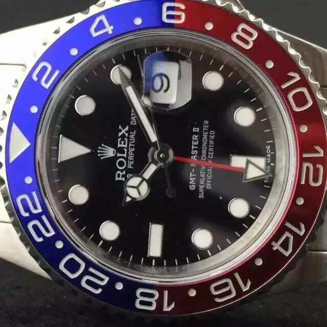 Rolex GMT Master II Blue Red Bezel