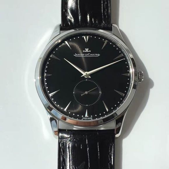 Jaeger LeCoultre Black Leather Strap