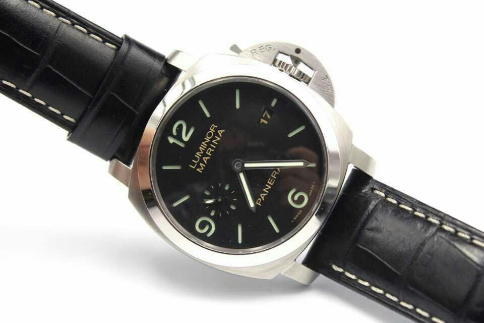 PAM 312 with Black Leather Strap