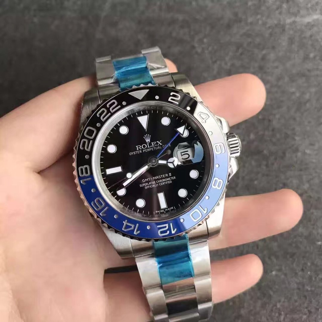 Rolex GMT Master II Black Blue Bezel Replica