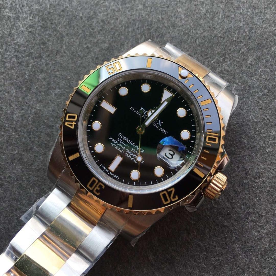 Replica Rolex Submariner 116613LN Black Dial
