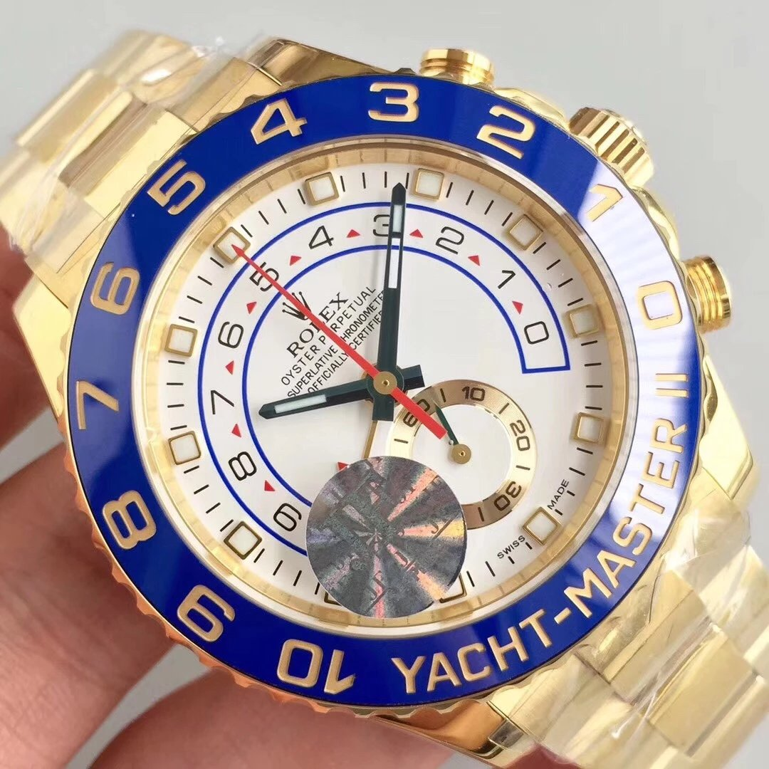 Rolex YachtMaster II Gold Watch