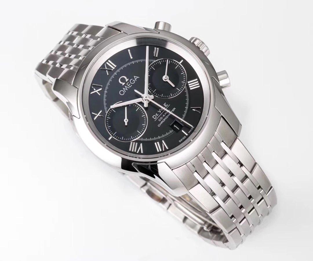 OM Factory Replica Omega De Ville Watch Black