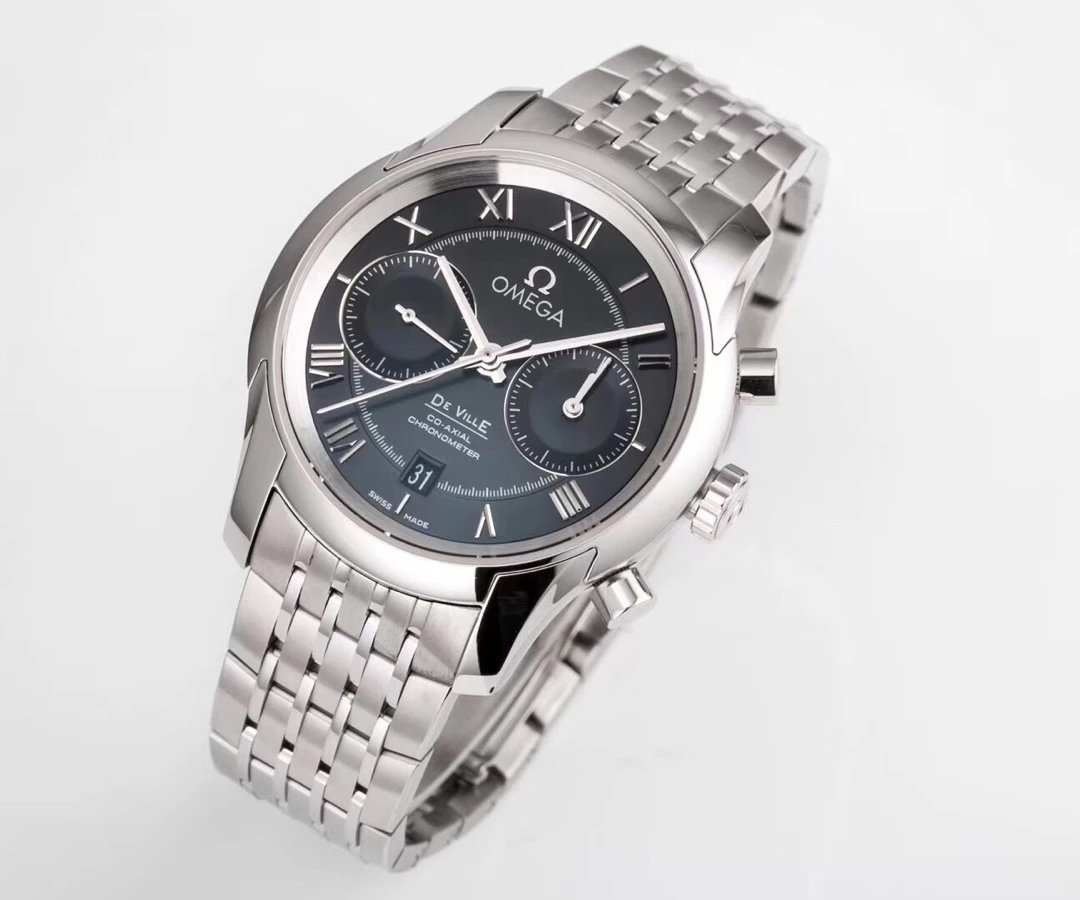 Replica Omega De Ville Watch Black Dial