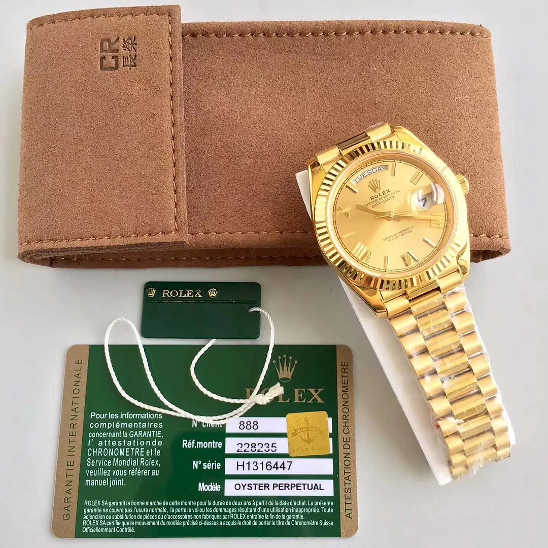 Replica Rolex Day Date Yellow Gold CR Factory