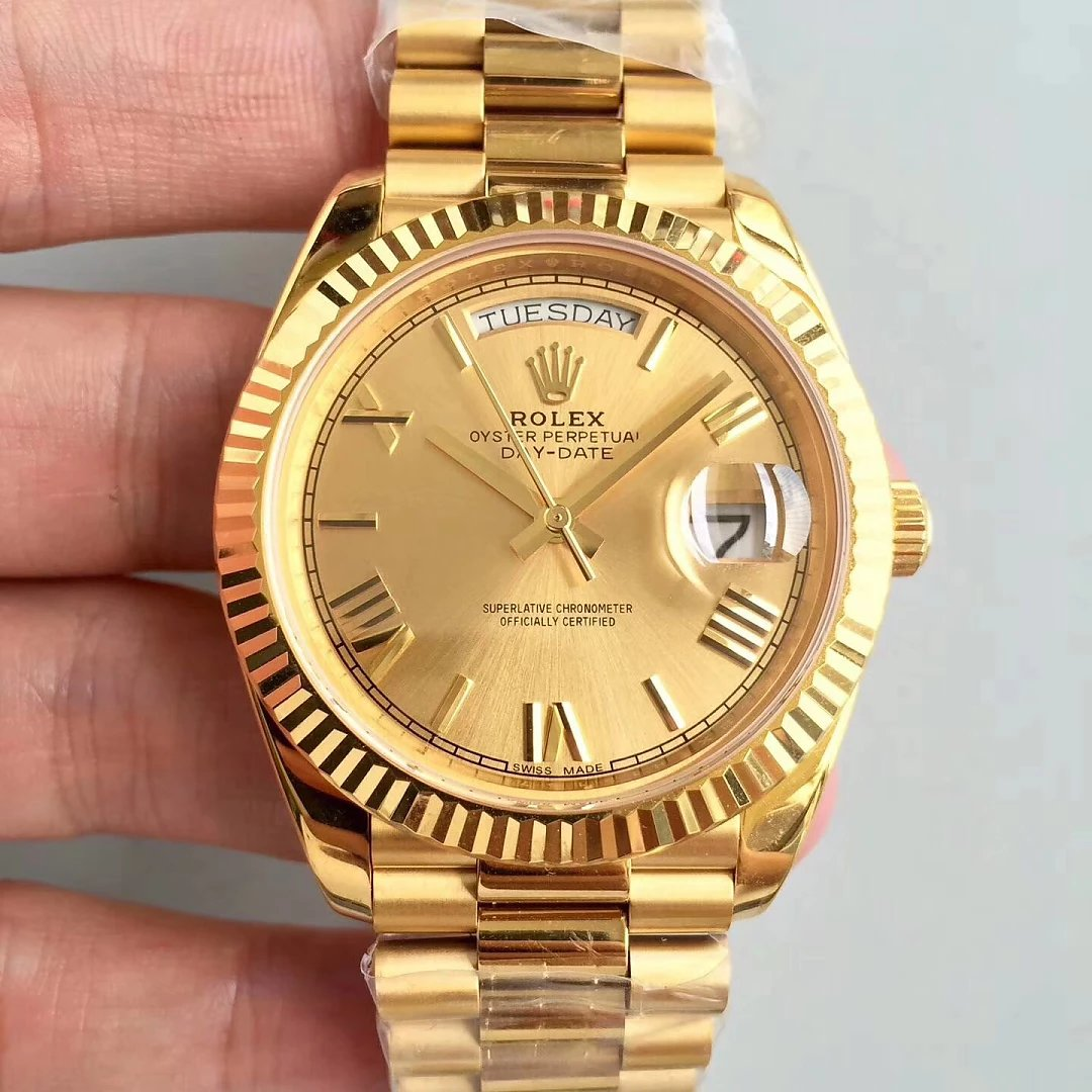 Replica Rolex Day Date Yellow Gold Watch