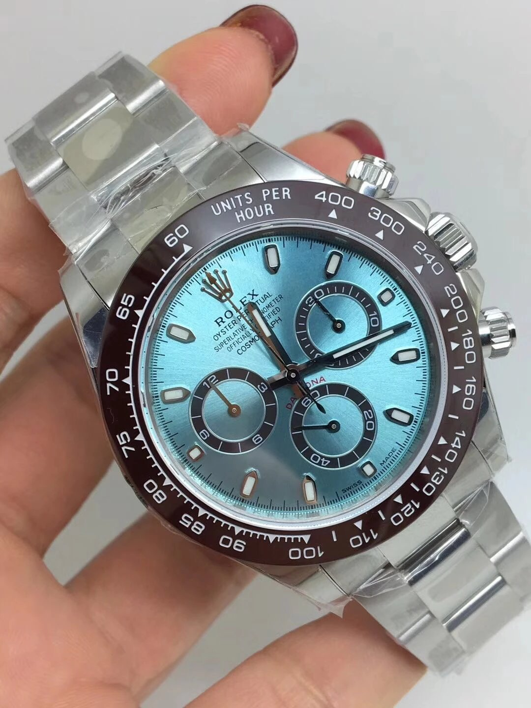 Noob Replica Rolex Ice Blue Dial