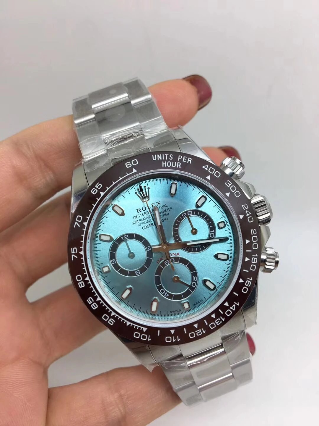 Noob Replica Rolex Ice Blue Watch