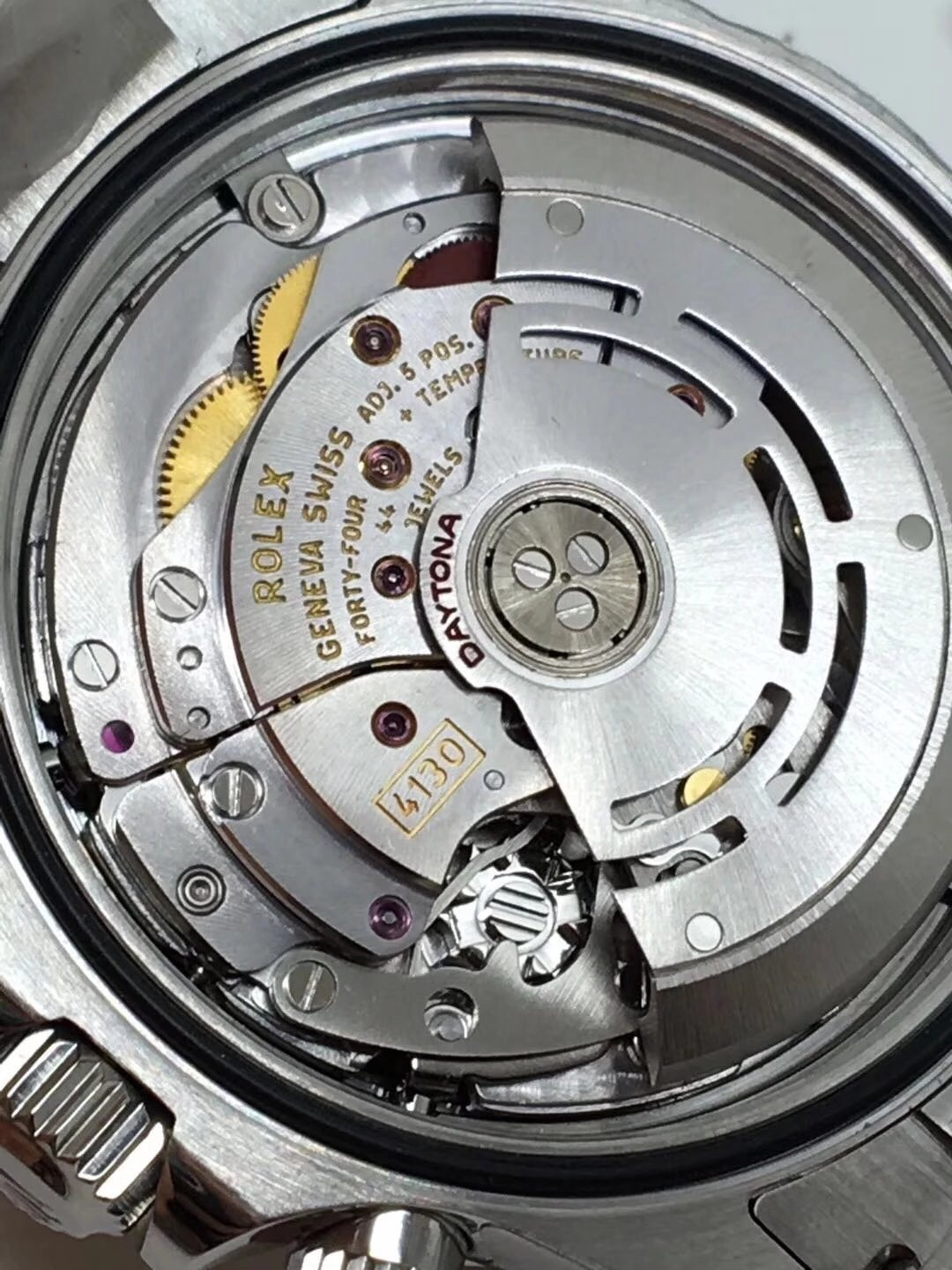 Rolex Daytona 4130 Movement Engravings