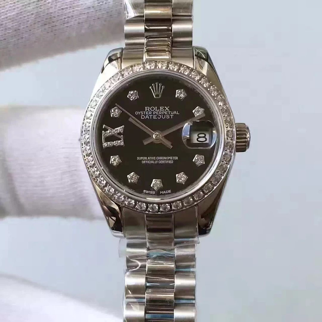 Rolex Lady Datejust 33mm Black Dial