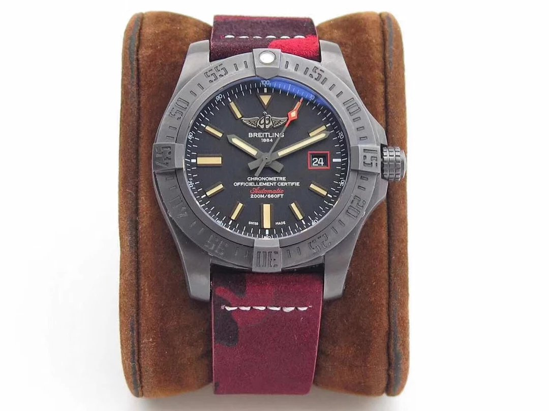 Replica Breitling Blackbird with Red Camo Band