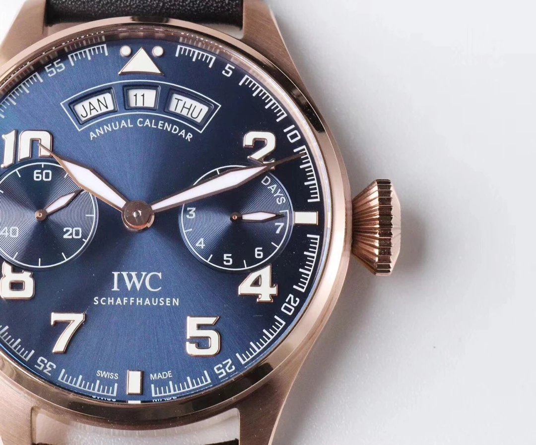 Replica IWC Annual Calendar Blue Dial