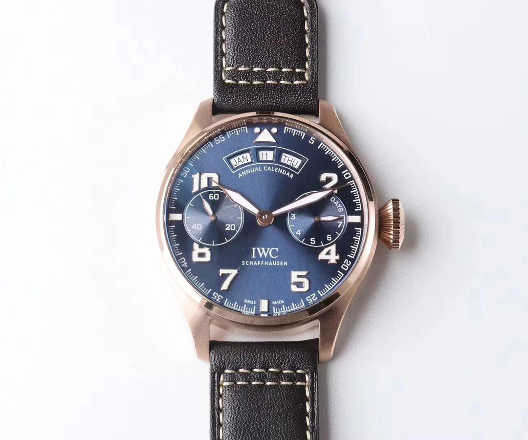 Replica IWC Big Pilot Annual Calendar Rose Gold