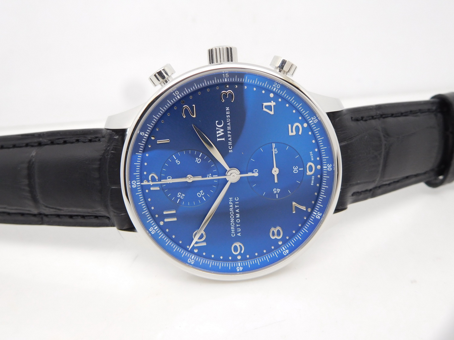 Replica IWC Portuguese Watch Blue Dial