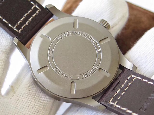 Replica IWC Mark XVIII IW327006 Solid Titanium Back