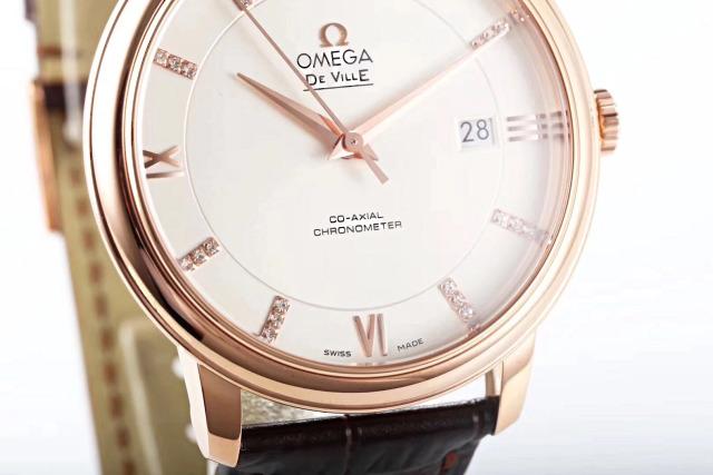 MKS Omega De Ville Rose Gold White Dial