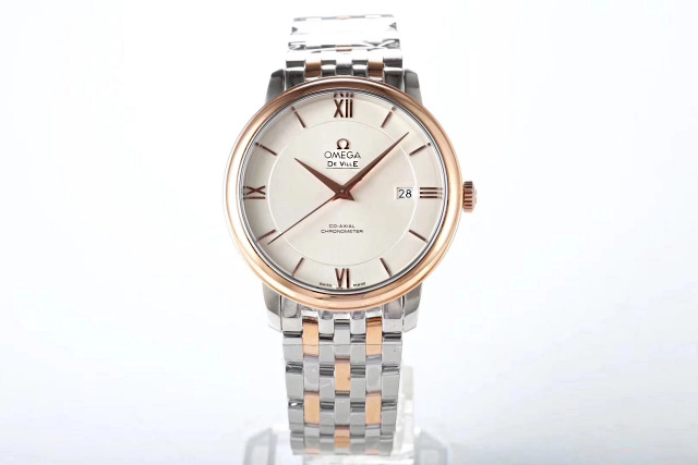 MKS Two Tone Rose Gold Omega De Ville