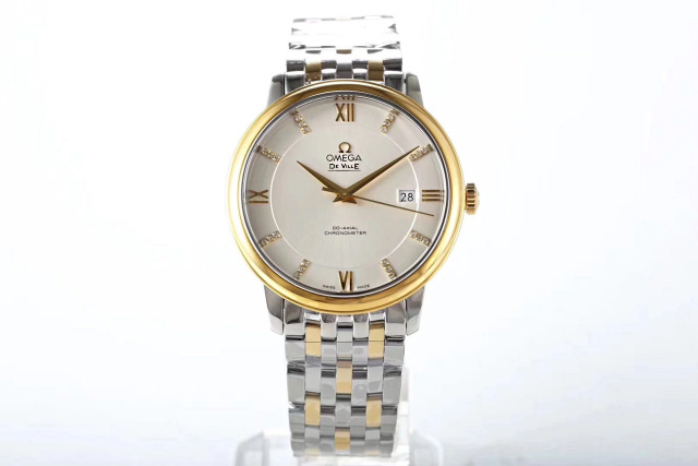 Omega De Ville Two Tone Yellow Gold