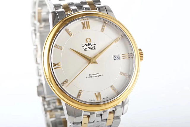 Omega De Ville Yellow Gold Diamond Markers