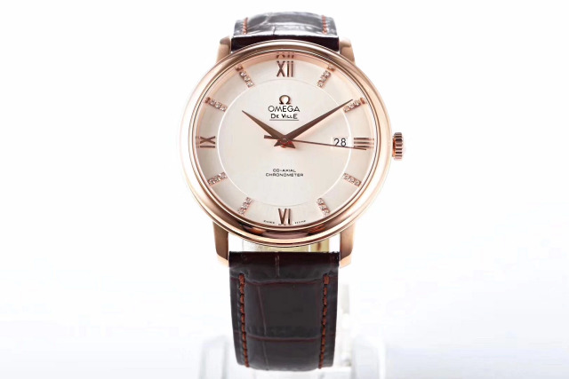 Replica Omega De Ville Rose Gold