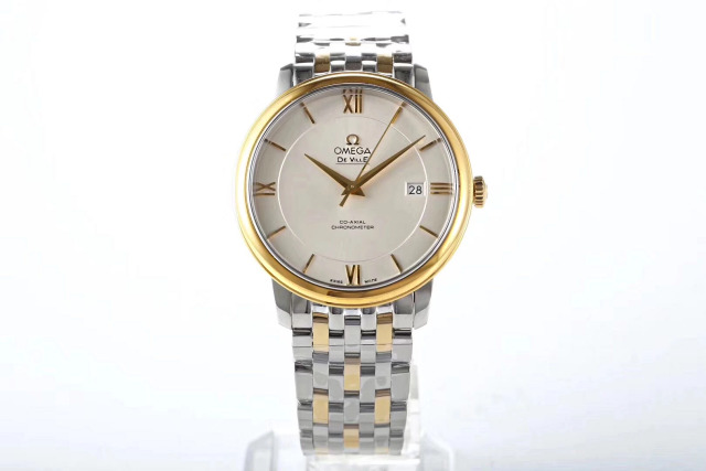 Two Tone Yellow Gold Omega Watch