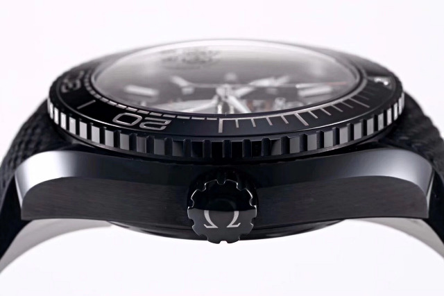 Replica Omega Deep Black Ceramic Crown