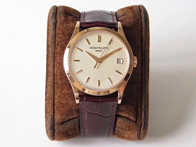 Replica Patek Philippe Calatrava Brown Leather Strap