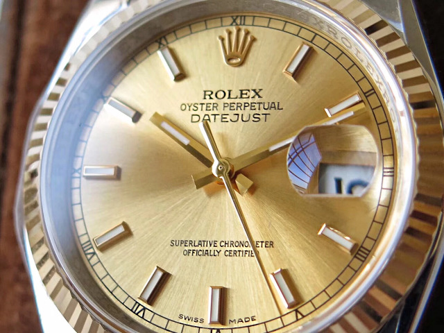Replica Rolex 36mm Datejust Yellow Gold Dial