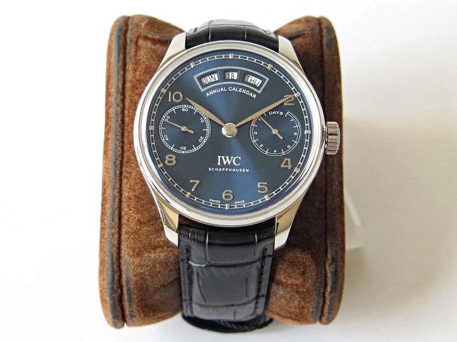Replica IWC Portuguese Annual Calendar Blue Dial