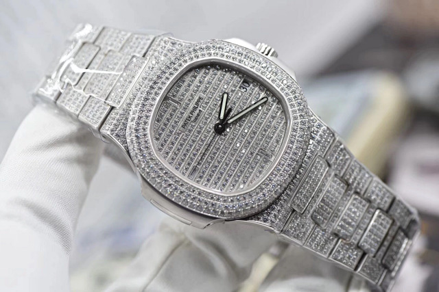 Replica Patek Philippe 5711 Full Diamonds Stainless Steel