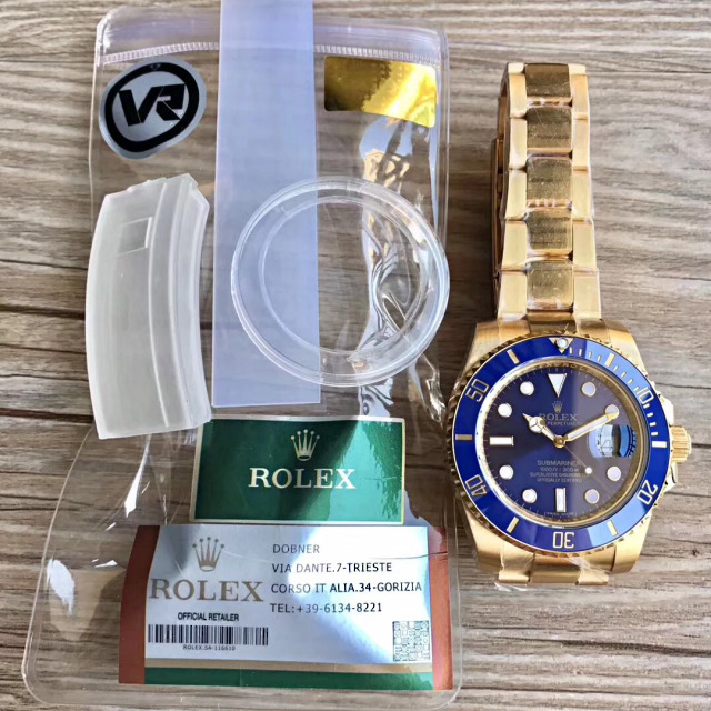 VR Golden Rolex Submariner Blue