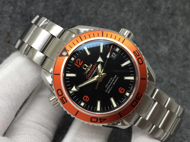 Vs Factory Replica Omega Planet Ocean 600m Orange Watch