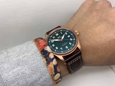IWC Spitfir Bronze Wrist Shot