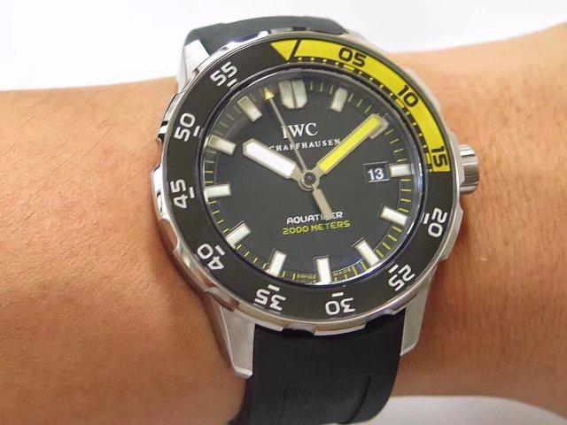 IWC Aquatimer 2000 Orange Black Wrist Shot