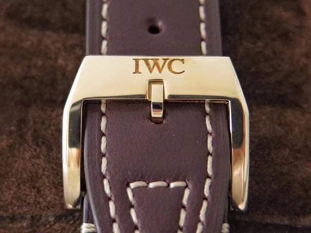 IWC Bronze Brown Leather Strap