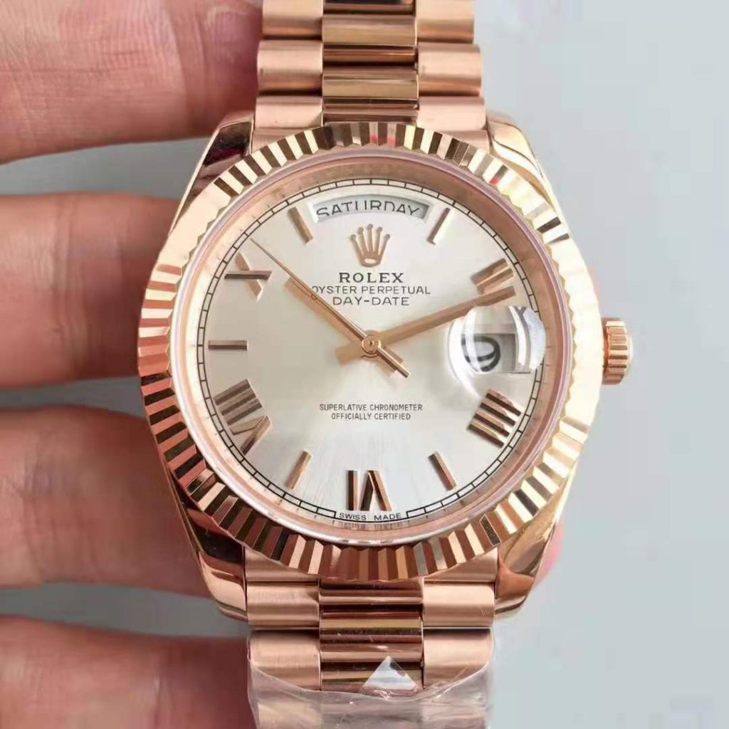 Replica Rolex Day Date 40mm 18K Rose Gold Watch