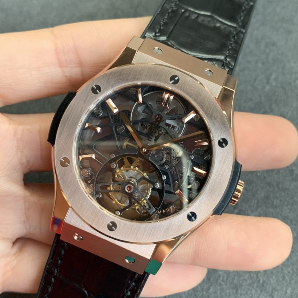 Replica Hublot Classic Fusion Tourbillon Rose Gold