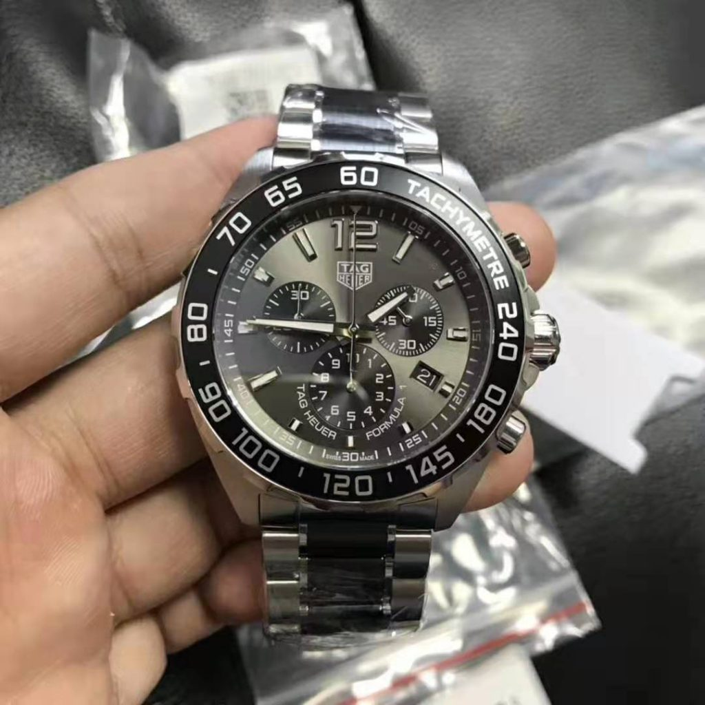 Replica Tag Heuer Formula 1 Quartz Chrono Silver Grey