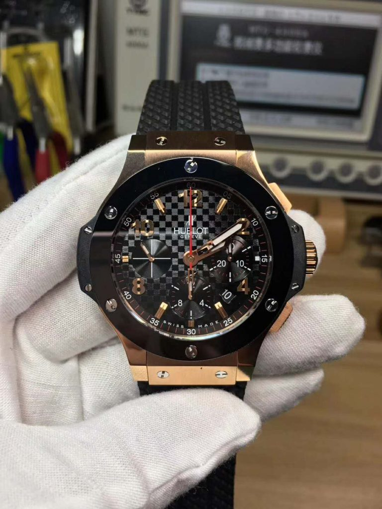 Replica Hublot Big Bang Rose Gold Rubber