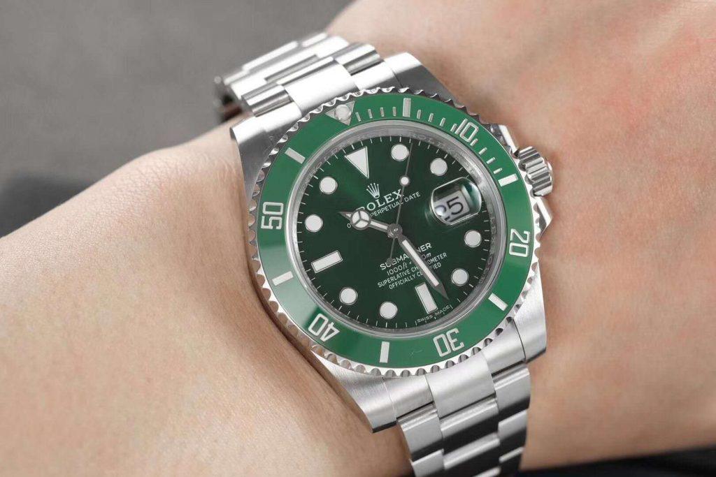 ZZF Rolex Green Submariner Wrist Shot