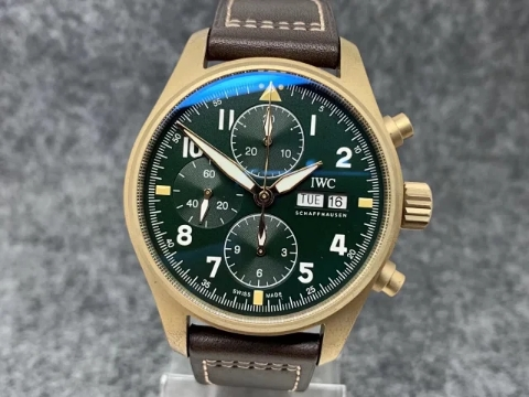Replica IWC Pilot Chrono Bronze