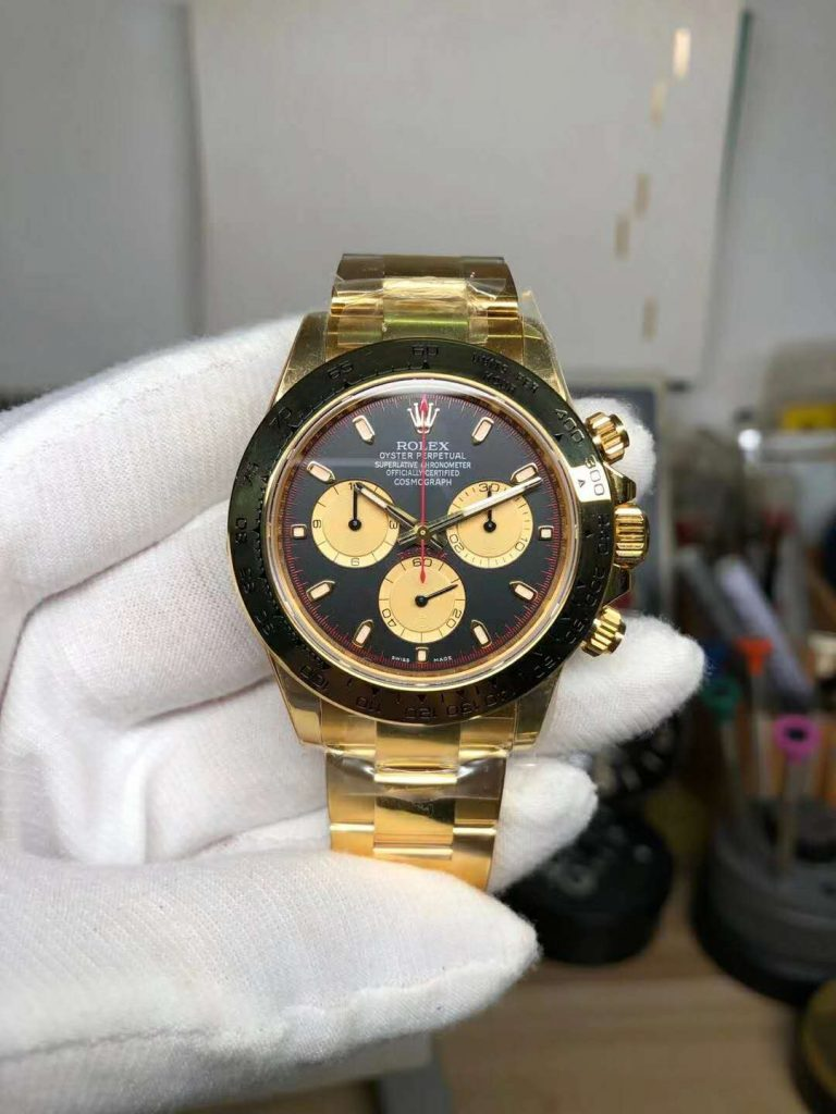 Replica Rolex Daytona Yellow Gold Watch