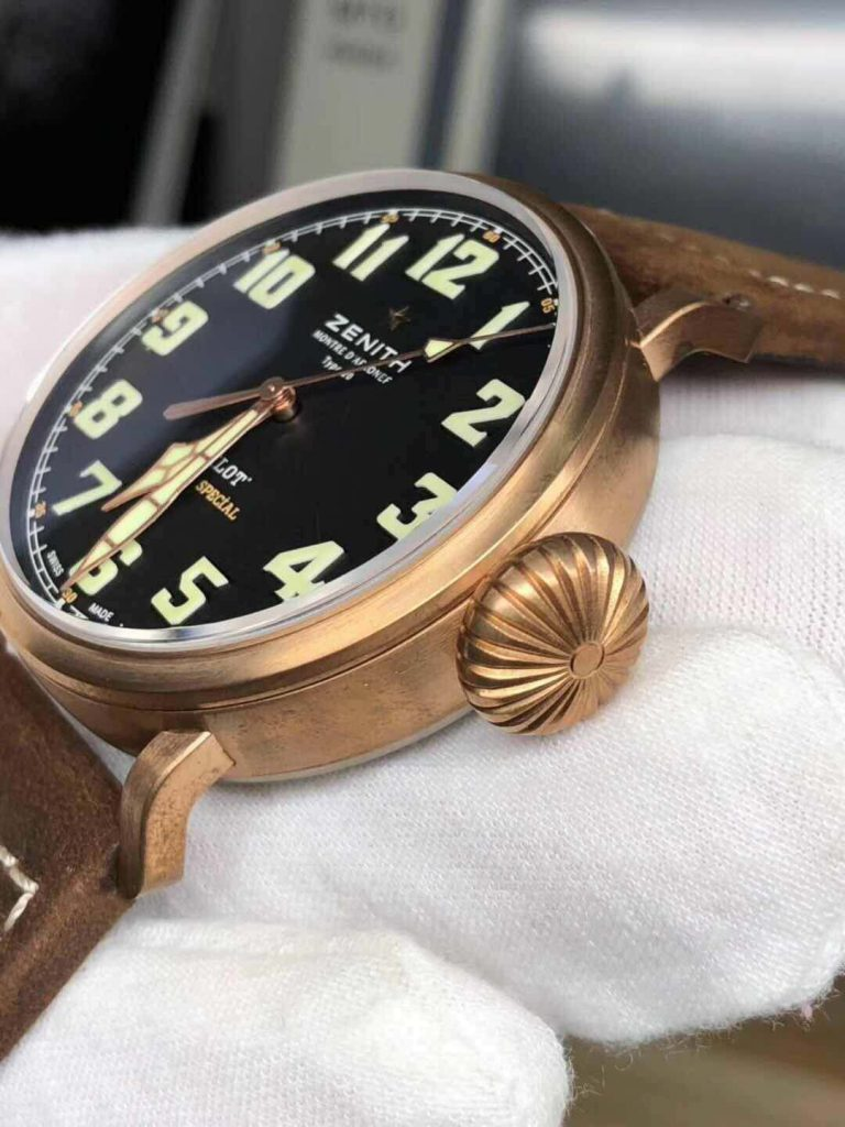 Replica Zenith Pilot Bronze Crown